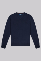 Moss Bros Navy V-Neck Jumper