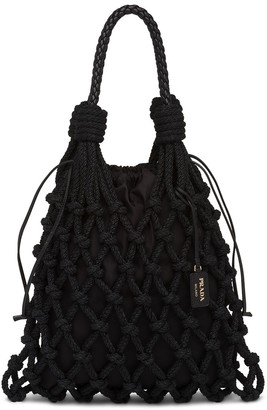 Prada Knotted Cord Tote Bag