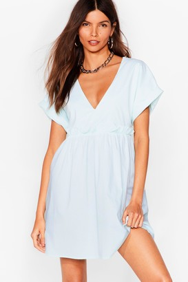 Nasty Gal Womens So Very Smooth Ruffle Mini Dress - Sage