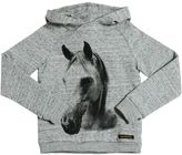 Finger In The Nose Horse Printed Cotton Sweatshirt