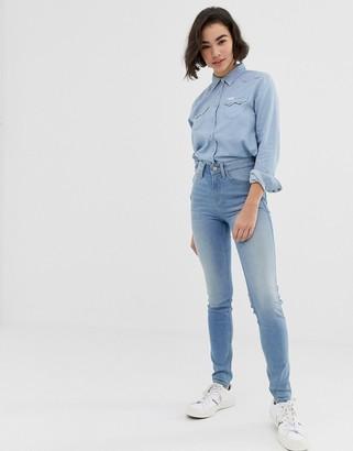 Lee Jeans Scarlett high rise skinny jeans-Blue