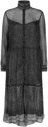 Rag & Bone Libby Silk Chiffon Shirt Dress