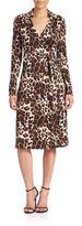 Diane von Furstenberg Cybil Leopard-Print Wrap Dress