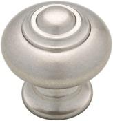 Martha Stewart P20645c-475-cp 1-1/4 Bedford Nickel Finial Round Cabinet Door Knob