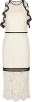 Alexis Evie cold-shoulder lace dress