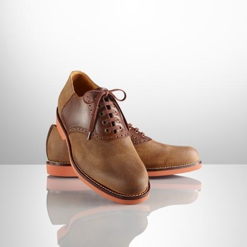 Ralph Lauren Henley Suede Saddle Shoe