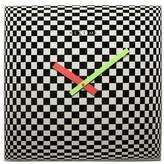 Nextime Black & White Victor Illusion Wall Clock