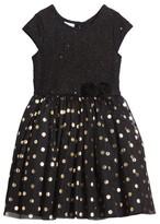 Frais Toddler Girl's Metallic Dot Dress