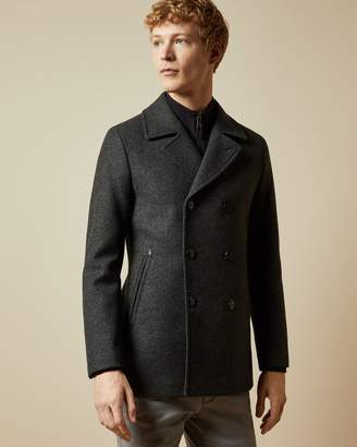 Ted Baker Double Breasted Wool Peacoat