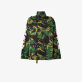 Off-White Camouflage Floral Print Parka Jacket