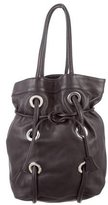 Marni Grommet-Embellished Leather Tote