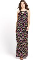 French Connection Beach Party Maxi Dress in Multi Size 8