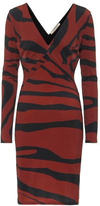 Roberto Cavalli Striped jersey dress