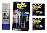Barc Bump Down Razor Bump Relief, Alcohol-Free, Unscented Lotion, 3.34 Oz + Bump Fighter Razor for Men + Bump Fighter Cartridge Refill, 5 Ct (Pack of 2) + FREE LA Cross 71817 Tweezer