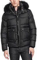 The Kooples Soft Nylon and Leather Puffer Coat
