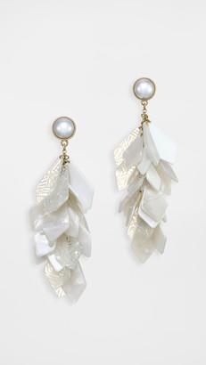 Stella + Ruby White Stone Earrings