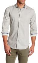 Ganesh Long Sleeve Scalloped Print Shirt