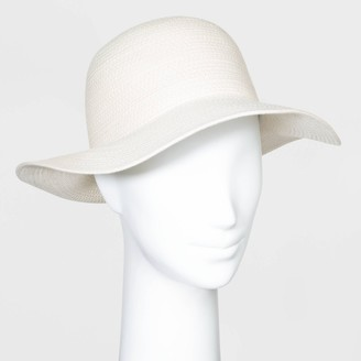 A New Day Women' Cotton Rope Fedora Hat Natural
