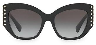 Valentino Individual 54MM Embellished Cat Eye Sunglasses