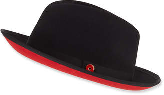 Keith and James Men's King Red-Brim Wool Fedora Hat