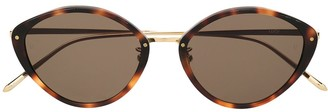 Linda Farrow Cat-Eye Frame Sunglasses