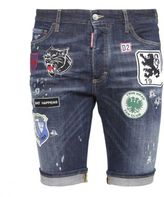 DSQUARED2 Patch Detail Denim Shorts