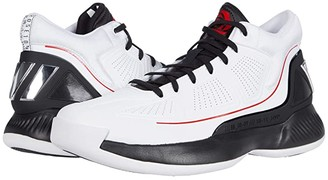 adidas Rose 10 (Footwear White/Core Black/Scarlet) Men's Shoes