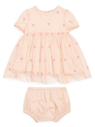 Stella McCartney Embroidered Hearts Dress and Bloomers Set