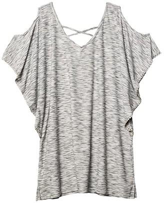 Dotti Plus Size Ocean Tide Cold-Shoulder Tunic Cover-Up (Grey) Women's Swimwear