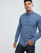BOSS ORANGE by Hugo Boss Epreppy Slim Fit Gingham Shirt in Blue