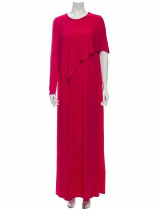 Givenchy Silk Long Dress Pink