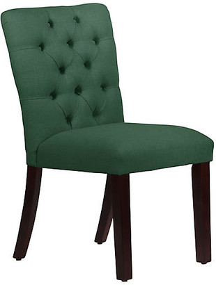 One Kings Lane Kim Tufted Side Chair - Forest Green