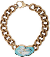 Balmain Burnished Gold-Plated Enamel Bracelet