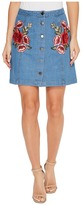 Brigitte Bailey Amilea Button Up Skirt with Patches Women's Skirt