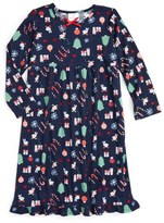 Hanna Andersson Holiday Print Flannel Nightgown (Toddler Girls, Little Girls & Big Girls)