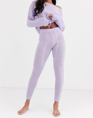 ASOS DESIGN premium lounge cable knit legging
