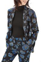 Topshop Floral Pajama Blazer