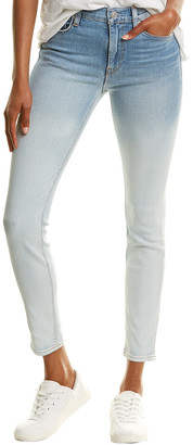 Hudson Barbara Dipped White High-Waist Super Skinny Jean