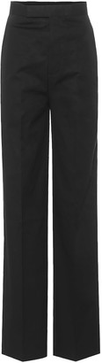 Rick Owens High-waisted cotton trousers