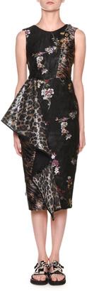 Antonio Marras Leopard-Print & Floral Jacquard Sheath Dress