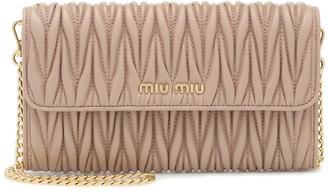 Miu Miu Matelasse leather clutch