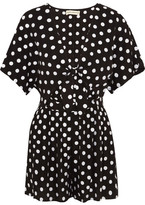 Mara Hoffman Polka-dot Embroidered Poplin Playsuit - Black
