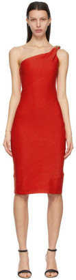 Givenchy Red Spiral Chain Dress