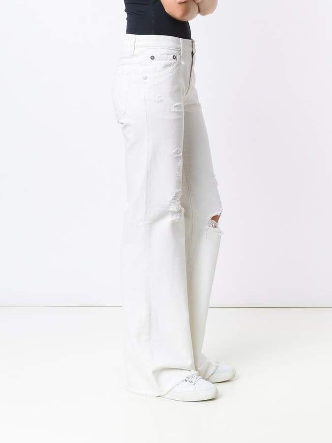 R 13 'Jane' frayed jeans