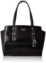 GUESS Devyn Satchel Black Shine