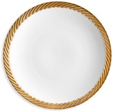 L'OBJET Corde 24K Yellow Goldplated-Trim & Porcelain Dessert Plate