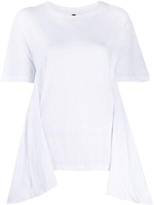 Unravel Project asymmetric detail T-shirt