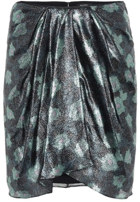 Isabel Marant Paris printed silk-blend miniskirt