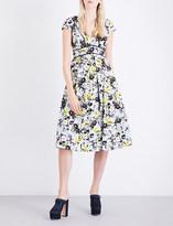 Erdem Fabianna floral cotton and silk dress