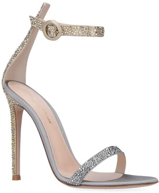 Gianvito Rossi Crystal-Embellished Portofino Sandals 110